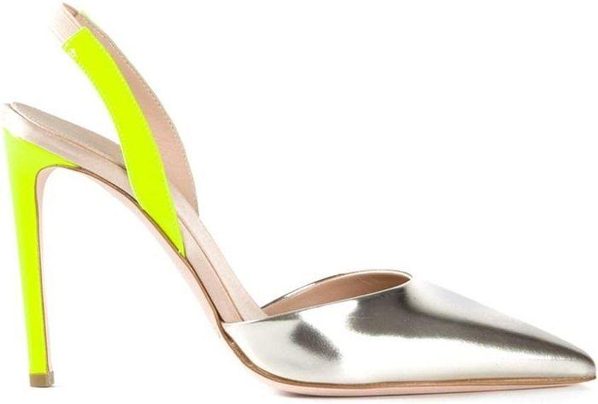 FOTO #11: Zapatos en plata y neón amarillo